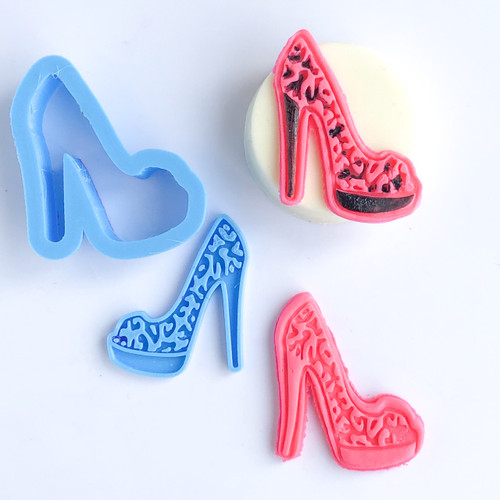 Shoe  Leopard press and cutter set  (SMALL Fits Oreos)