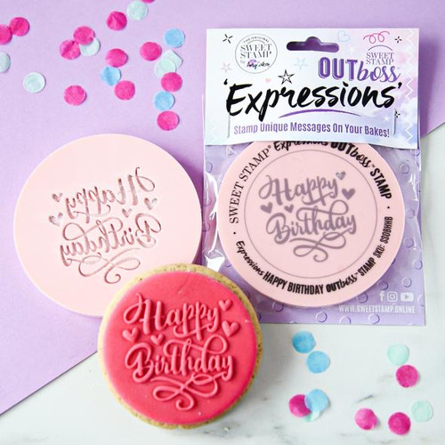 OUTBOSS™ EXPRESSIONS - HEARTS HAPPY BIRTHDAY