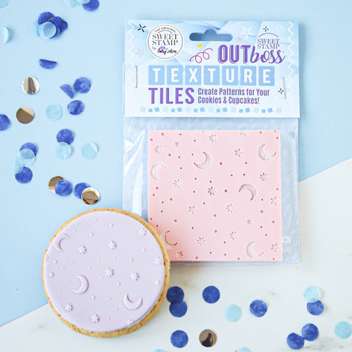 OUTBOSS™ TEXTURE TILES -  MOON AND STARS