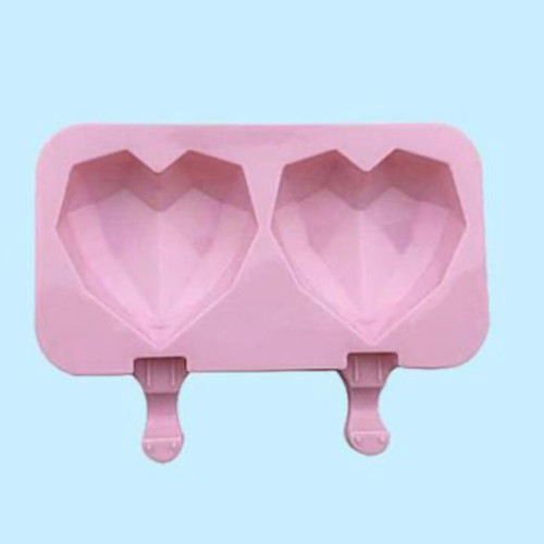 Geometric Heart Popsicle Cake Slice Ice Cream Silicone Mold