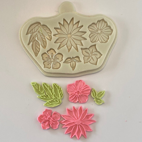 Flower and Leaves  silicone mold