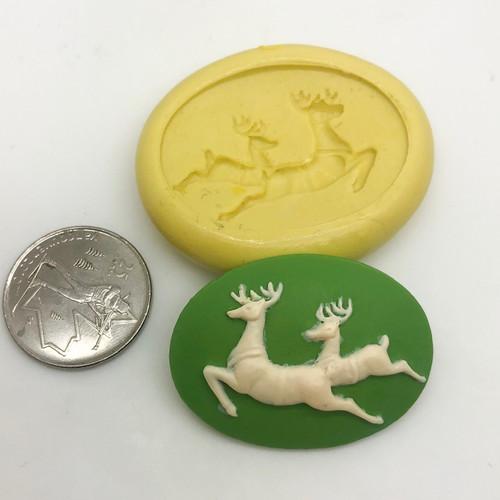 Reindeer CAMEO  Mold