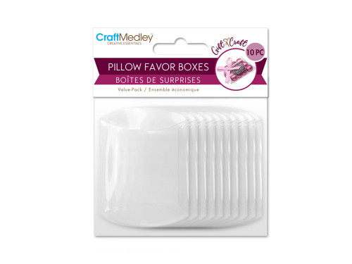 Clear Pillow Favor Box (10pc Small)