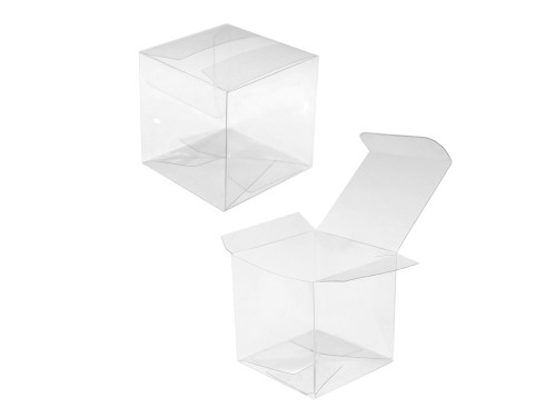 Clear Cube Favor Box Small  4pc