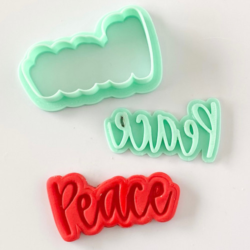 Peace  Fondant /Cookie Embosser  and cutter set