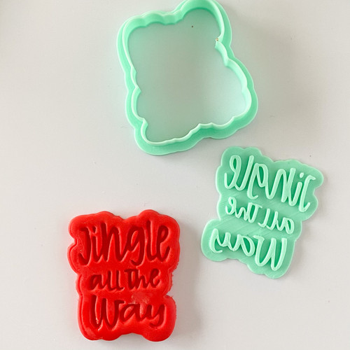 Jingle all the Way Fondant /Cookie Embosser  and cutter set