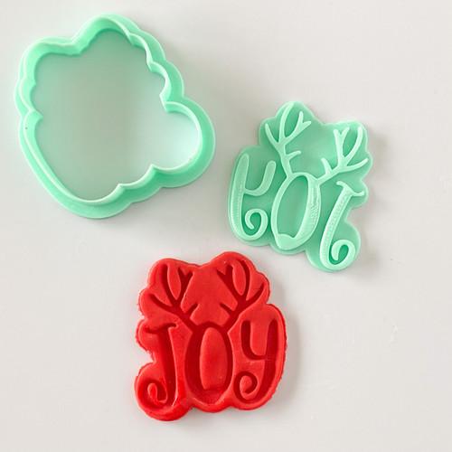 Joy  Fondant /Cookie Embosser  and cutter set