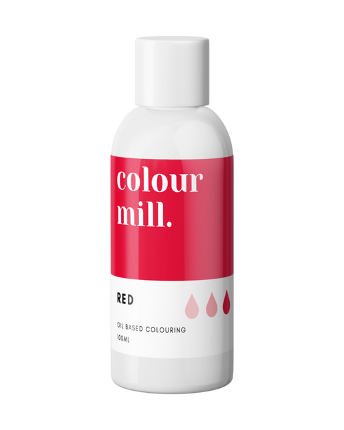 RED 100ml Oil Based Colouring   -Colourmil