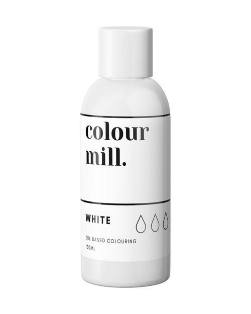 WHITE  100ml Oil Based Colouring   -Colourmil