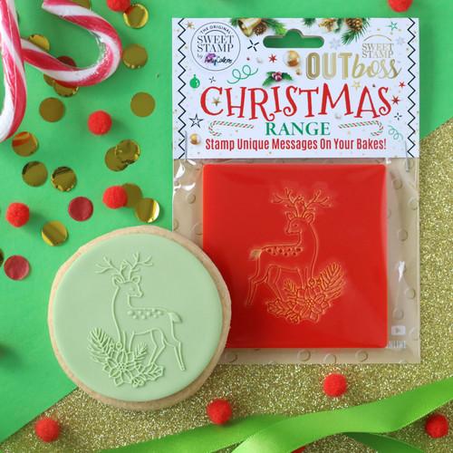 OUTBOSS CHRISTMAS  FLORAL REINDEER