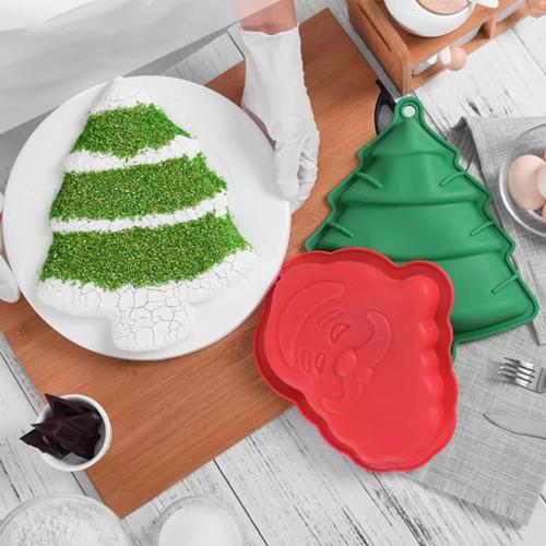 Santa and Tree Breakable 2 mold Set
