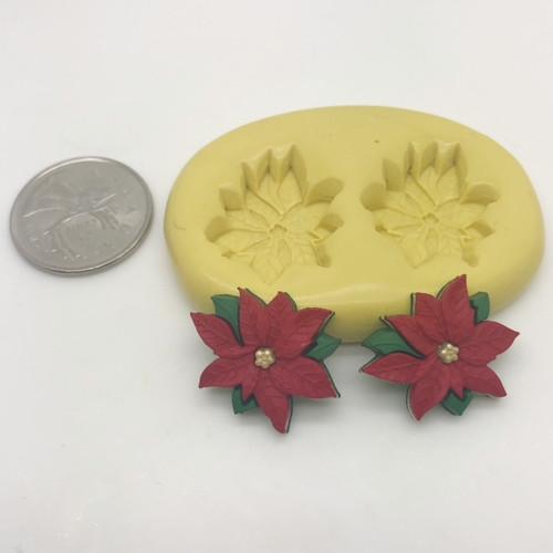 Pointsettia Flower Mold silicone