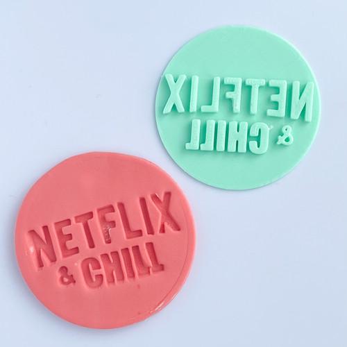 Netflix and Chill Fondant /Cookie Embosser