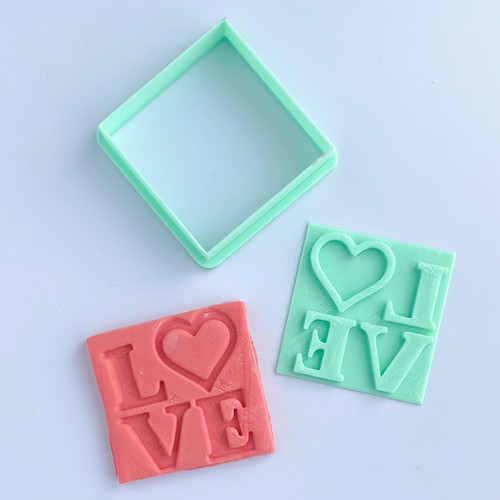 Love stacked Fondant Cookie Embosser and cutter