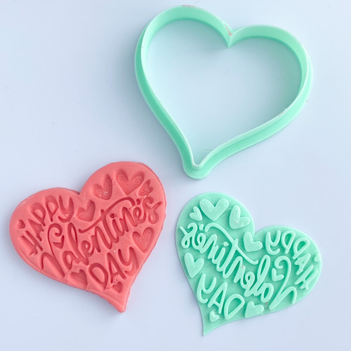 """Love words  Fondant Cookie Embosser and cutter  3"""""""