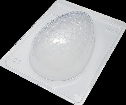 Textured Egg  Heart 500g -3part Mold