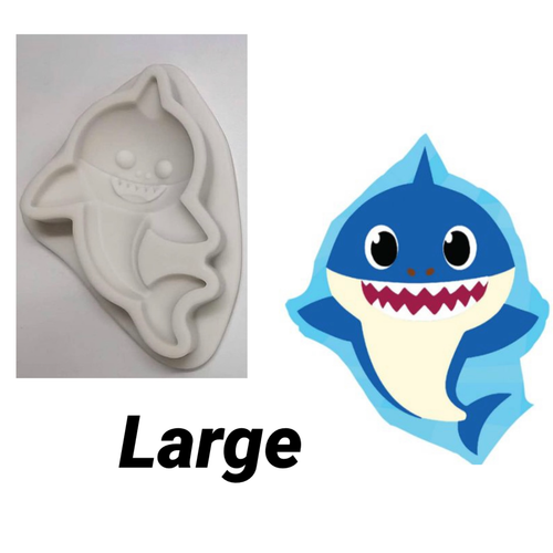 """Baby shark mold  Large  3"""" PM588"""
