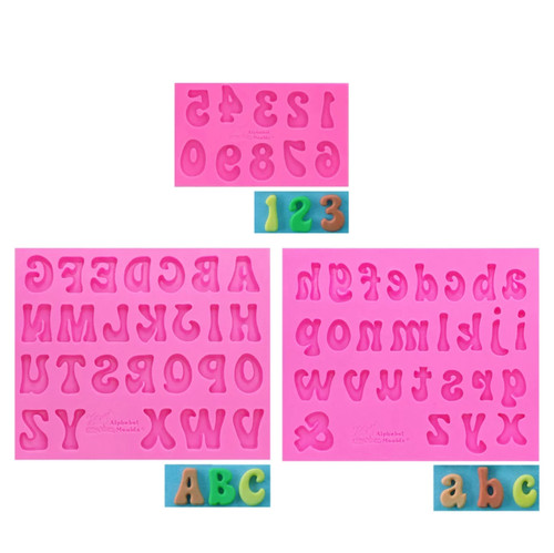Alphabet Number 3 mold  Silicone Mold  Set