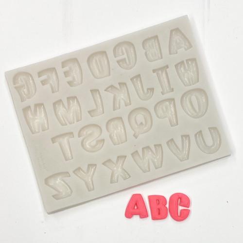 Comic Alphabet  mold