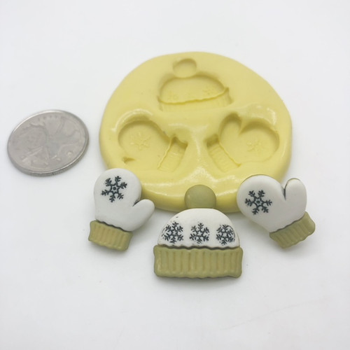 Winnter Hat Mitten Molds  silicone