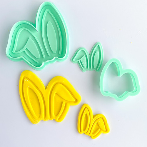 Bunny Ears  Fondant /Cookie Embosser  and cutter set