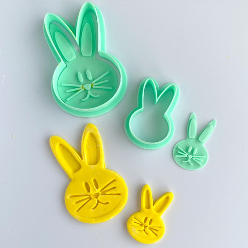 Bunny Face   Fondant /Cookie Embosser  and cutter set
