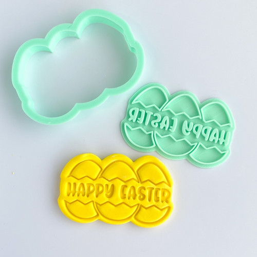 Happy Easter  Fondant /Cookie Embosser  and cutter set