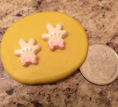 Mini Minnie Mouse Gloves Mold silicone