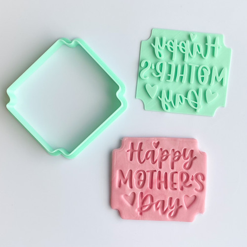 Happy Mother's Day Square Stamp and Cutter Set