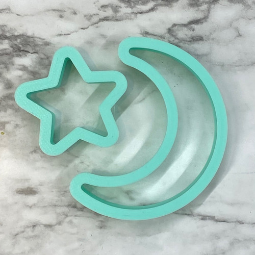 Moon and Star Set  cookie/ fondant cutter