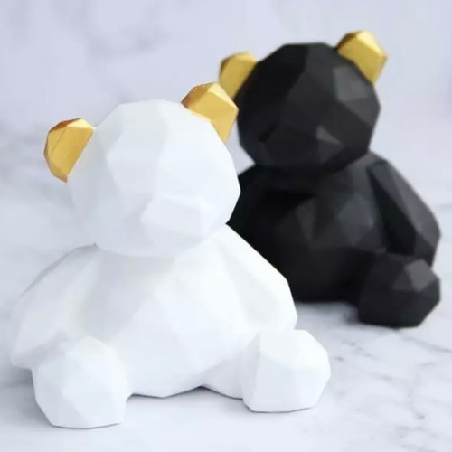 Geometric Bear Large Mold