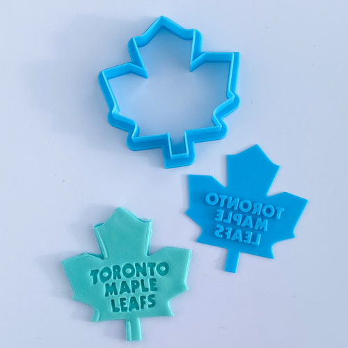 """Maple Leaf  Press  Fondant /Cookie Embosser  3"""" Cutter and Stamp"""