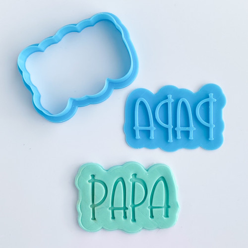 "Papa   Fondant /Cookie Embosser  3"" Cutter and Stamp"