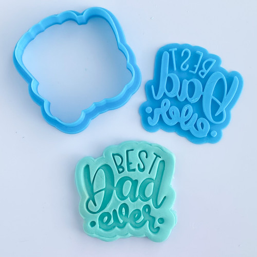 Best Dad Ever  Stamp and Cutter Set