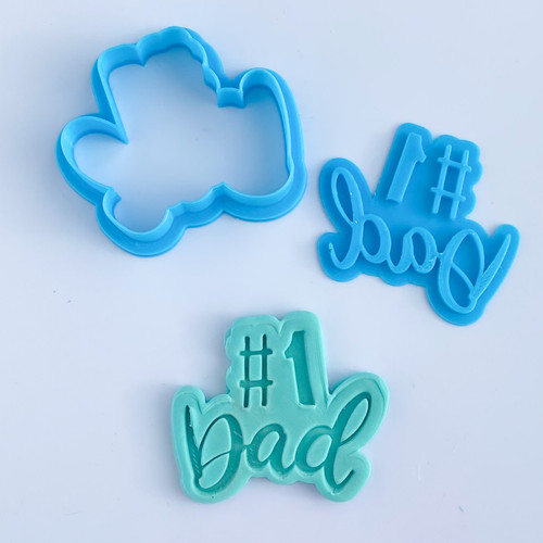Number 1 Dad Stamp and Cutter Set