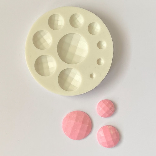 Faceted Round  Circle  silicone Mold PM615