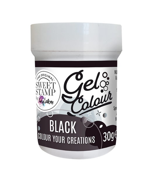 BLACK - SWEET STAMP GEL COLOUR 30G