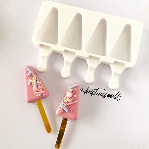 Mini Triangle cakesicle silicone Mold