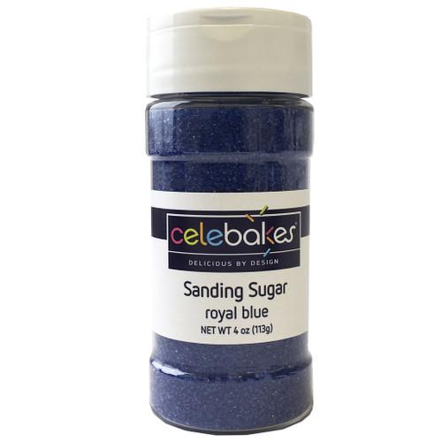 Celebakes Royal Blue Sanding Sugar, 4 oz.