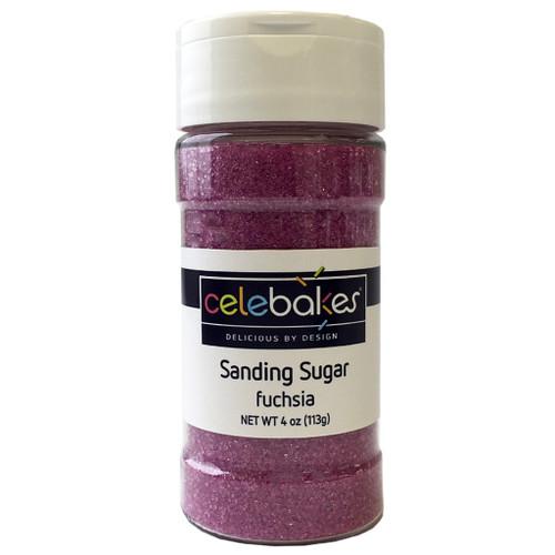 Celebakes Fuchsia Sanding Sugar, 4 oz.
