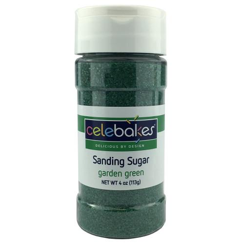 Celebakes Garden Green Sanding Sugar, 4 oz.