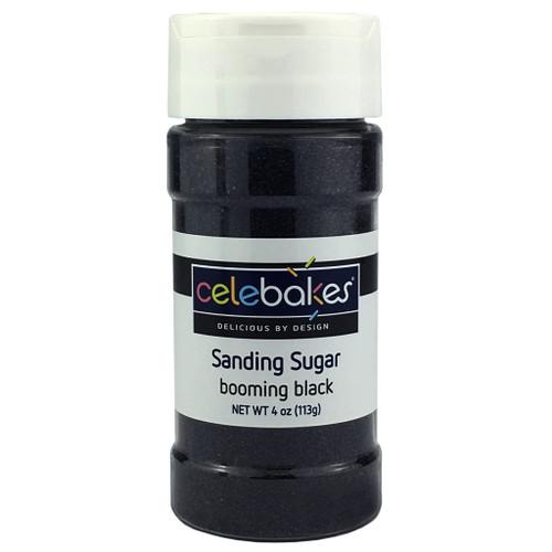 Celebakes Booming Black Sanding Sugar, 4 oz.