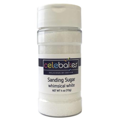 Celebakes Whimsical White Sanding Sugar, 4 oz.