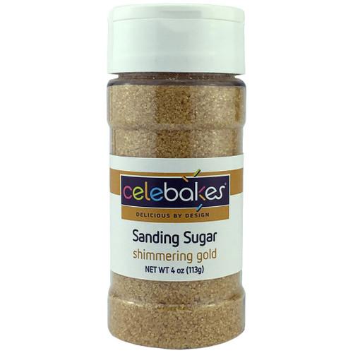 Celebakes Shimmering Gold Sanding Sugar, 4 oz.