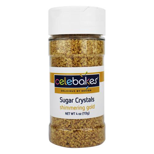 Celebakes Shimmering Gold Sugar Crystals, 4 oz.