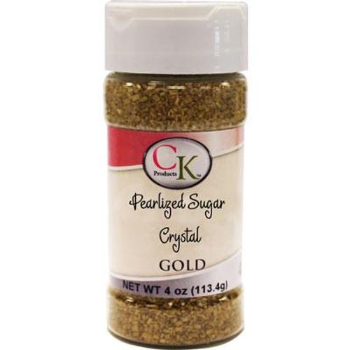 GOLD PEARLIZED SUGAR CRYSTAL 4 OZ