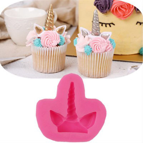 Unicorn Horn and Ears with base   silicone mold