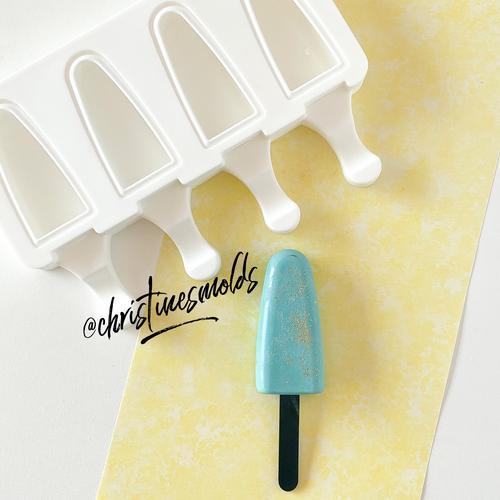 Triangle Mini oval  cakesicle silicone Mold