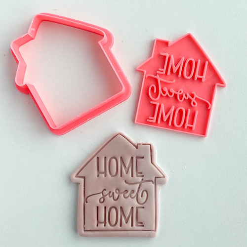 Home Sweet Home Cookie Embosser  And cutter Set