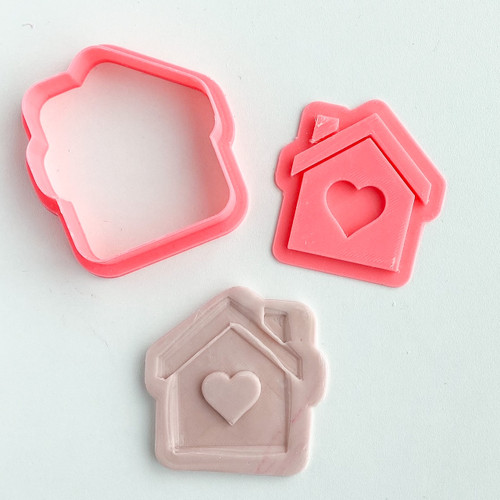 Home with heart  Cookie Embosser  And cutter Set